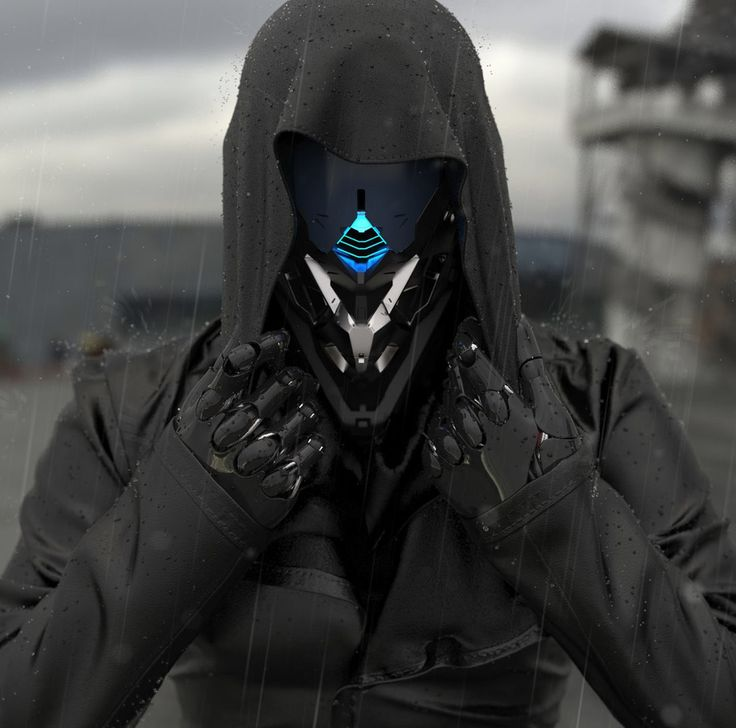 This costume gives the character a unique look with the primary colour of black which shows that they have power and strength and could link to be a stereotypical antagonist. Also in the costume the character has robotic hands and head, you can tell by this as the hands and head are un-human. Also the hud up shows that hes its an act of concealment to hide its identity. The style makes it look futuristic and appealing.