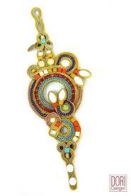 Martinique tropical colors statement bracelet by Dori Csengeri