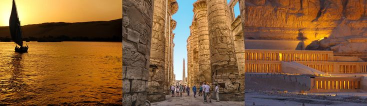 Weave down the #Nile by boat, stopping in at #Karnak and the Valley of the Kings en route to #Aswan
