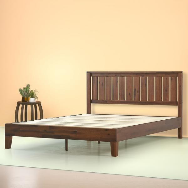 Vivek Wood Deluxe Platform Bed Frame In 2020 Platform Bed Frame Wood Platform Bed Wooden Platform Bed
