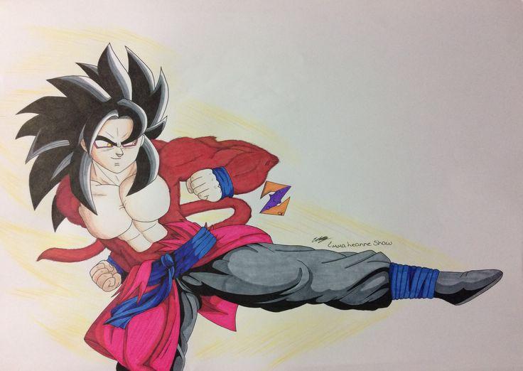 SSJ4 Xeno Goku fanart from Dragon Ball Heroes by ZorArt