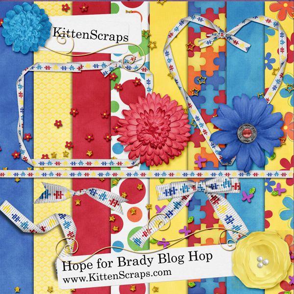 Hope for Brady Blog Hop Freebie - KittenScraps & Friends Forum Blog Hop Freebie moved to the forum, created by KittenScraps