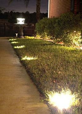 Expertly line your walk, patio or deck with glowing light to ensure safety with the Solar Ground/Deck Lights.: Ideas, Paths, Decks, Solar Lights, Ground Deck Lights, Outdoor Lighting, Solar Ground Deck, Solar Deck, Backyard