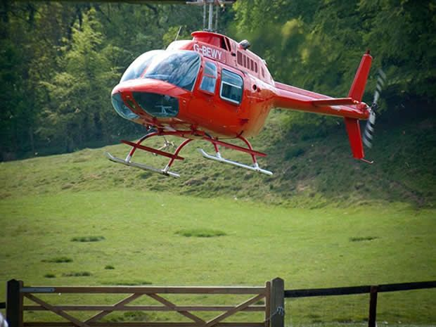 Discover a host of #Gloucestershire #wedding venues where you can arrive by #helicopter including #Kingscote Barn. #Cotswolds