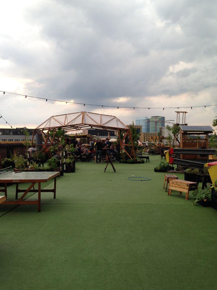Roofgarden Arnhem met speciaal ontworpen vouwdak