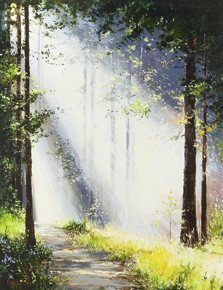 Morning Light II by Gleb Goloubetski,  Oil on Canvas,130cmx100cm
