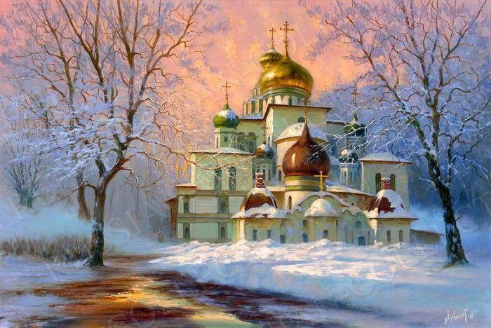 Церковь на открытку, сделать открытку марта