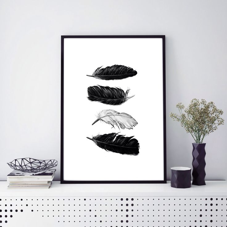 Feather print, feather wall art, black and white art, feather art print, feathers poster, feathers wall art, minimalist art, instant print by S4StarSbySiSSy on Etsy https://www.etsy.com/ca/listing/483284597/feather-print-feather-wall-art-black-and