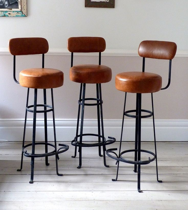 Vintage Bar Stools With Backs