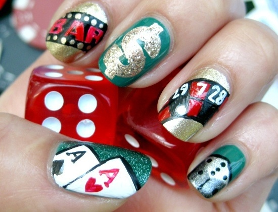 Gambling Nail Art Designs Play Poker Online