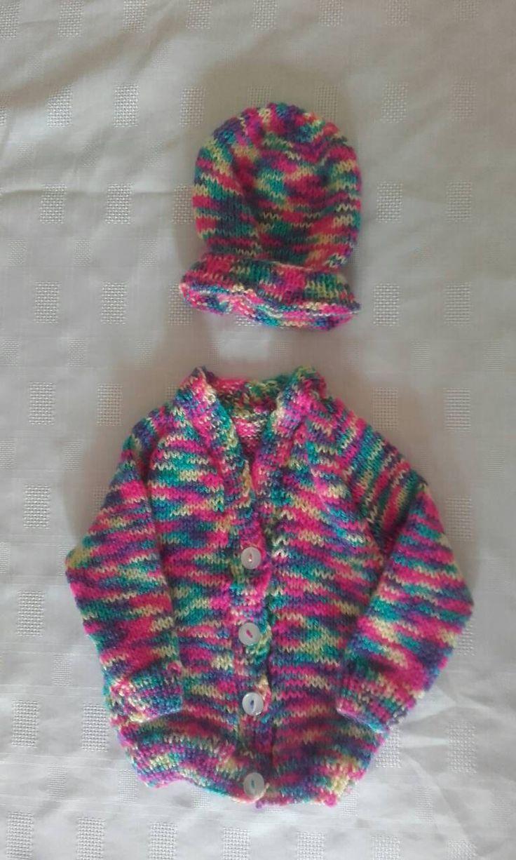 Newborn baby sweater, girl baby sweater, baby sweater, newborn sweater, sweater and hat, ready to ship by crochetfifi on Etsy