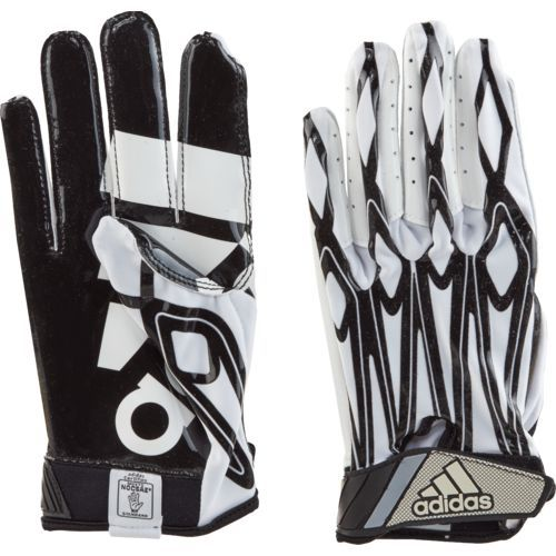 Adidas Men's Filthy Quick Football Receiver Gloves White/Black - Football Equipment, Football Equipment at Academy Sports