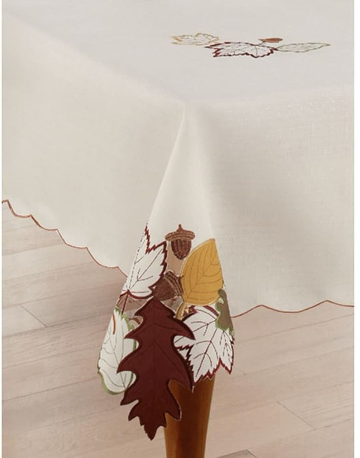 Celebrate Fall Together Leaf Cut Out Tablecloth