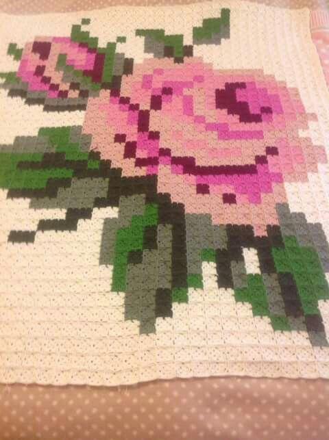 Crochet patchwork afghan