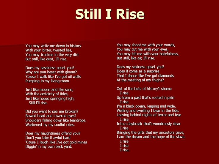 best still i rise ideas still i rise poem a  but still i rise