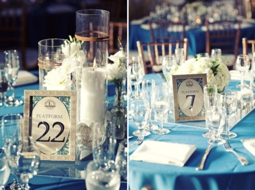 Creative train themed table numbers