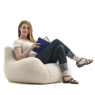 BeanSack Big Joe Lusso Sherpa Bean Bag Chair