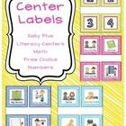Center Labels - This pack includes labels for Daily Five, Literacy Centers, Math Centers, Free Choice Centers and Numbers.  Please let me know if you need any othe...