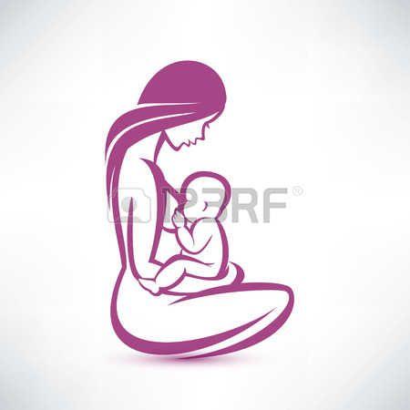la madre en periodo de lactancia a su bebé