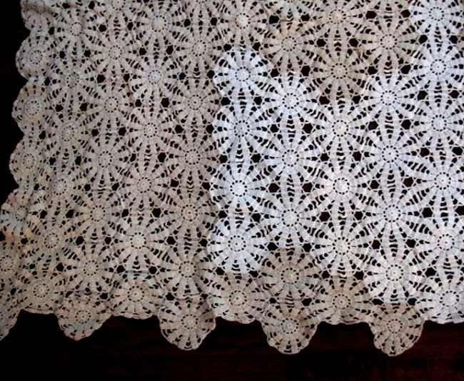 vintage lace tablecloth eBay