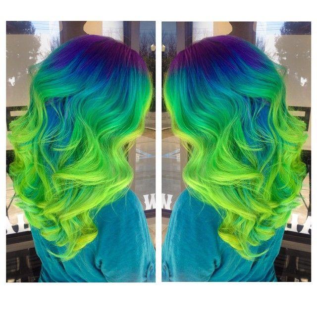 Blue green hair                                                                                                                                                                                 More