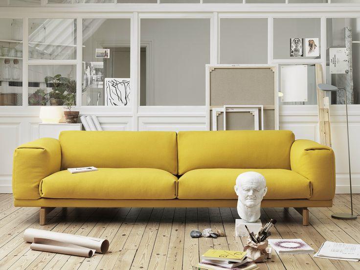 Divano imbottito Collezione Rest by MUUTO | design Torbjørn Anderssen, Espen Voll