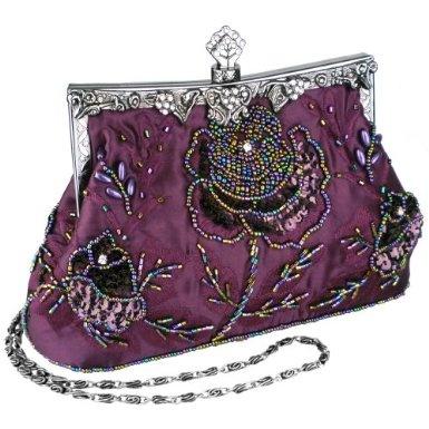 Purple beaded purse.