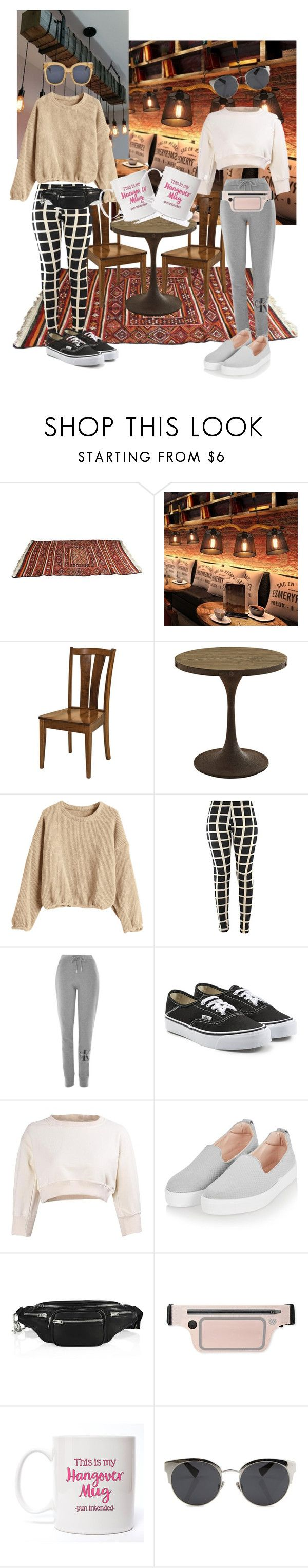 """""""Next-day-coffee after clubbing"""" by sunny-sannie ❤ liked on Polyvore featuring DutchCrafters, Calvin Klein, Vans, Topshop, Alexander Wang, Forever 21, Christian Dior and CÉLINE"""