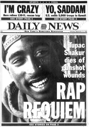 Like Kennedy, I can remember where I was when I found out he was shot & when he died. Same with Biggie.