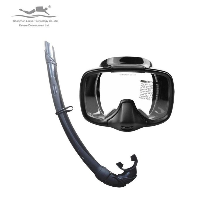 [Visit to Buy] Diving Mark Surfing Gears Freeshiping Professional Scuba Diving Spearfishing Semi-dry diving mask snorkeling Set MS-25519(A) #Advertisement