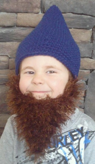 bearded gnome beanie by JenSpeedCreations on Etsy, $14.00