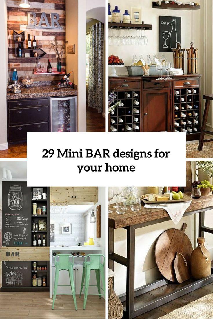 1000 ideas about mini bars on pinterest wet bar. Black Bedroom Furniture Sets. Home Design Ideas