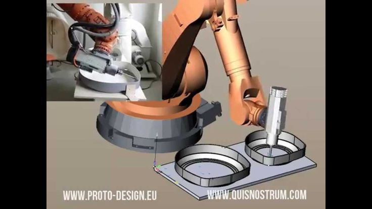 Fiberglass trimming with Kuka KR2150 robot programmed with SprutCAM 9 www.sprutcam.com
