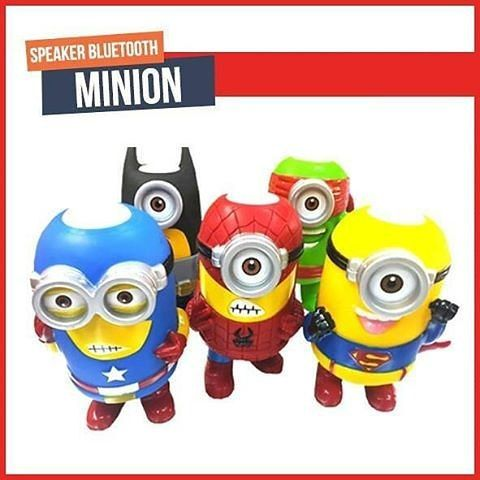 New  . NEW Cosplay bluetooth speaker 14cm Minions Cosplay speaker The toys spealer as Avengers Super Hero Spiderman Superman Batman Captain America Ironman Thor Action bluetooth speaker  Cartoon Portable Minions Speaker TF Card USB Speakers FM Radio MP3 MP4 Player tablet PC Louderspeaker specail desgin for your cosplay testhigh quanlity with good price. . Specifcations: 1. Bluetooth Connection; 2. Built-in Microphone to answer phone call; 3. With USB and TF(Micro SD) card slots; 4. With FM…
