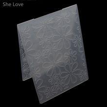Ella Ama Scrapbooking Carpeta de Grabación En Relieve de Seis Hojas de Plantilla De Plástico Tarjeta de DIY Que Hace Decoración Papercraft(China (Mainland))