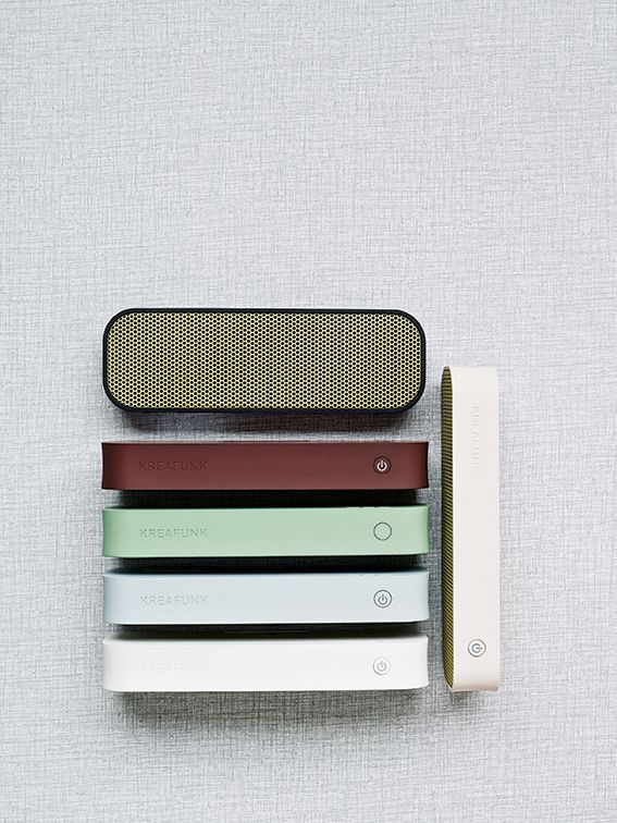 Probably need to see it in person first, but it seems like the best looking wireless speaker I've seen so far: kreafunk.com