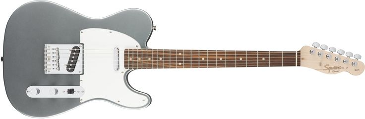 "Squier by Fender Affinity Telecaster Beginner Electric Guitar - Rosewood Fingerboard, Slick Silver. Squier's Affinity Series provides the best value in instrument design available today, and is the perfect choice for the aspiring musician. Two Single-Coil Telecaster pickups envoke the iconic tone of the original solid-body electric guitar. The Top-load Telecaster bridge makes changing strings a breeze & provides optimal tuning stability. The modern ""C"" shaped neck provides universal…"
