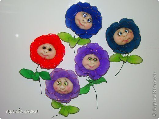 Tutorial on making these cute magnetic flower faces. Must try this