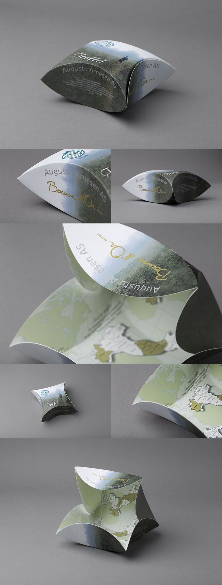 """Augusta Arnesen - """"pute eske"""" med matt PP-folie. #emballasje"""