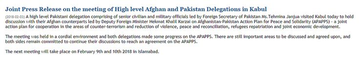 Dialogue on Afghan-Pak Action Plan for Peace and Solidarity held in Kabul