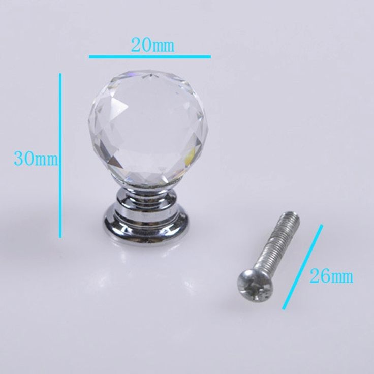 12.12$  Watch now - http://alionv.shopchina.info/go.php?t=32652397427 - Wholesale Cabinet Handle Crystal Ball Knobs Furniture Drawer Cabinet 20mm Handles Knob  #aliexpressideas
