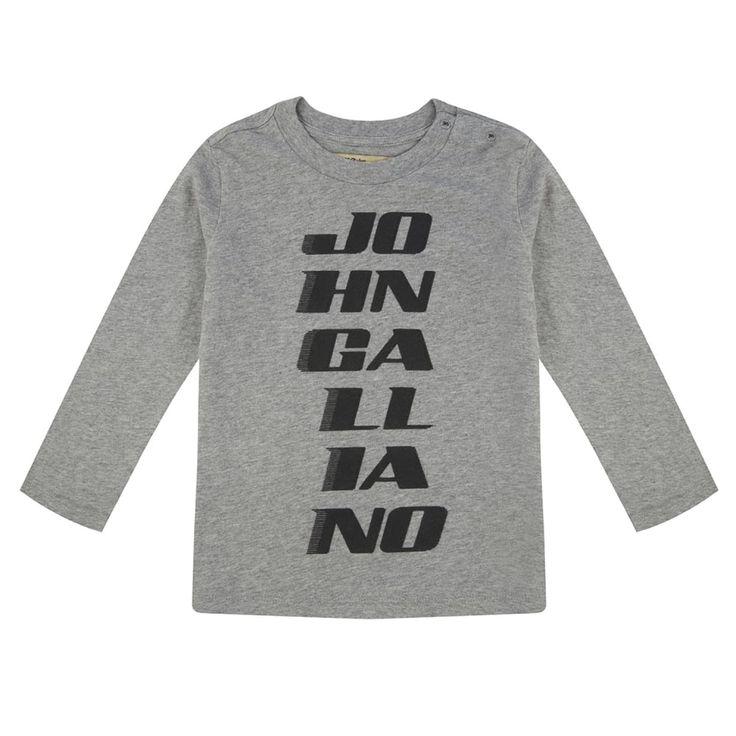 John Galliano Baby Boys Grey Long Sleeved T-Shirt