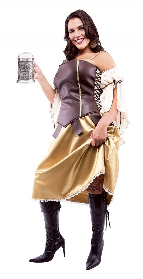 Plus size tavern wench fancy dress