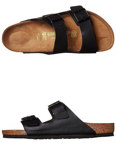 Popular Birkenstock Womens Arizona Soft Footbed Sandals In Billiard Nubuck