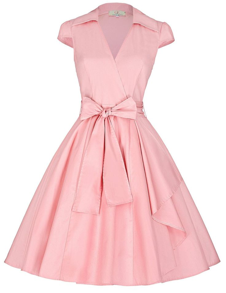 GRACE KARIN® Women's Cap Sleeve Casual Dress Wrap Dresses JS6087: Amazon Fashion
