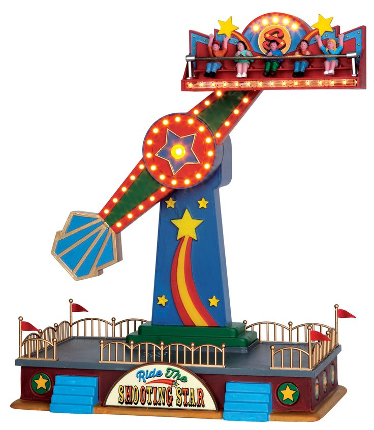 New for 2015 - Lemax Carnival Sights & Sounds The Shooting Star. SKU# 54918