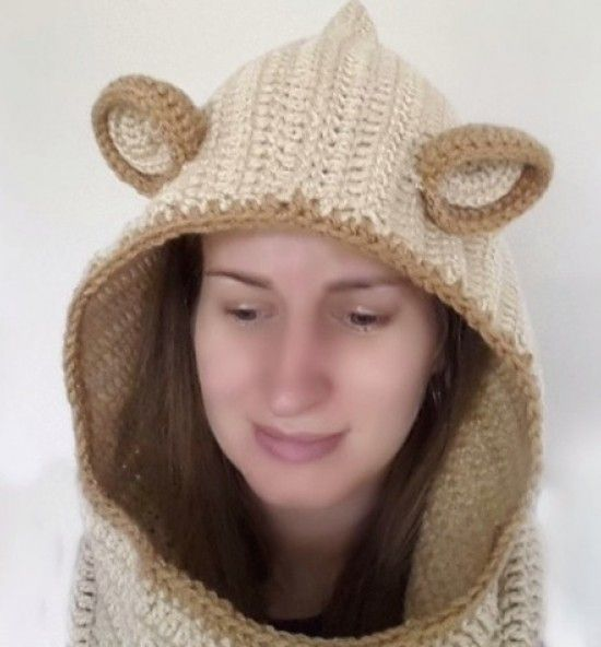 Free Crochet Fox Cowl Hat Pattern : 81 Best images about Crochet Cowls & Hooded cowls on ...