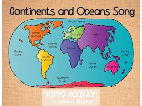 Hippo Hooray for Second Grade: Continents and Oceans Song