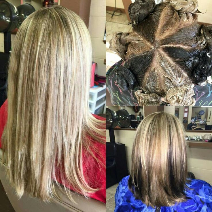 Before and after the amazing pinwheel technique Hair