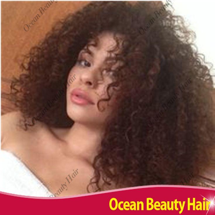 100 de cheveux humains Afro crépus bouclés perruques pour les femmes noires bouclés sans colle avant de dentelle de cheveux humains perruques pas cher perruques courtes pour les femmes noires(China (Mainland))